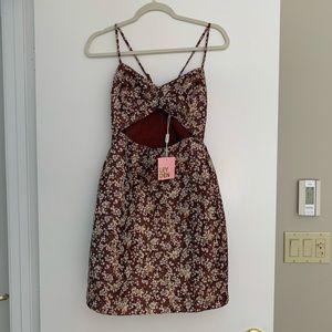 Leyden Cutout Printed Mini Dress XS